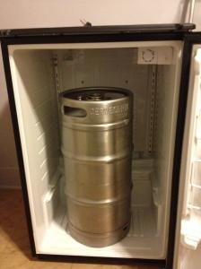Tall 1/4 bbl Sanke fermenter fits